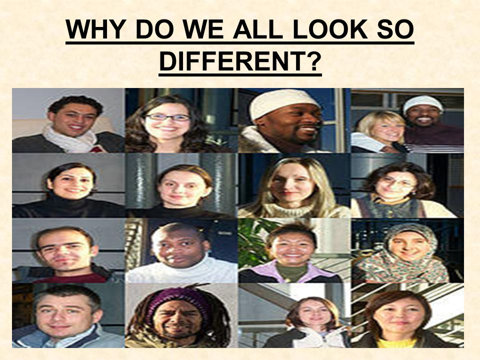 THINKING ABOUT DIFFERENCES Find someone in the class that looks different to you.