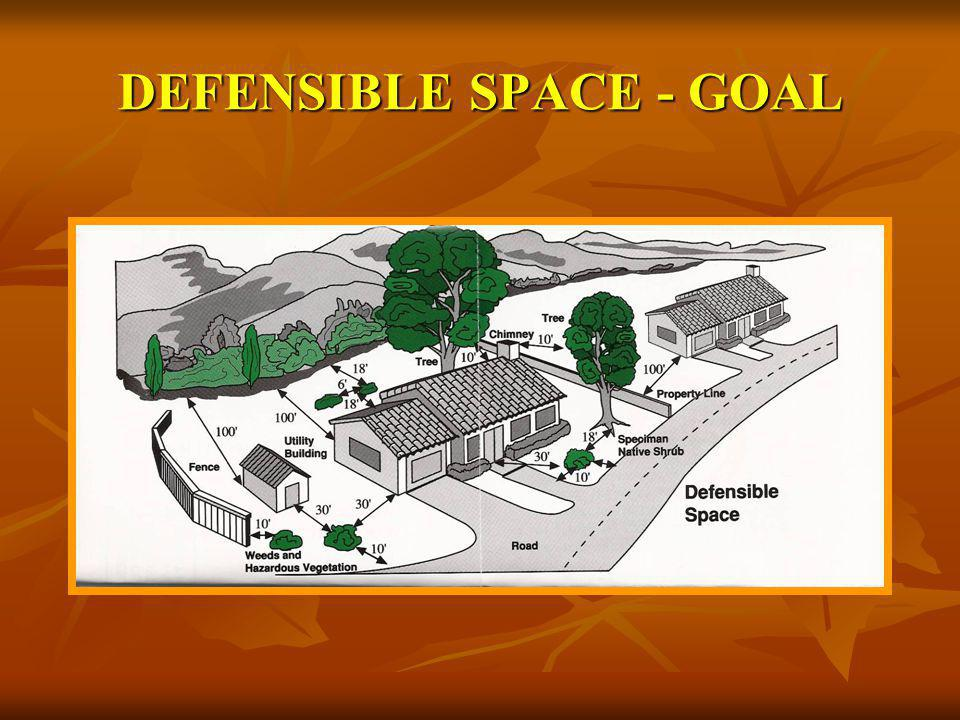 DEFENSIBLE SPACE - GOAL