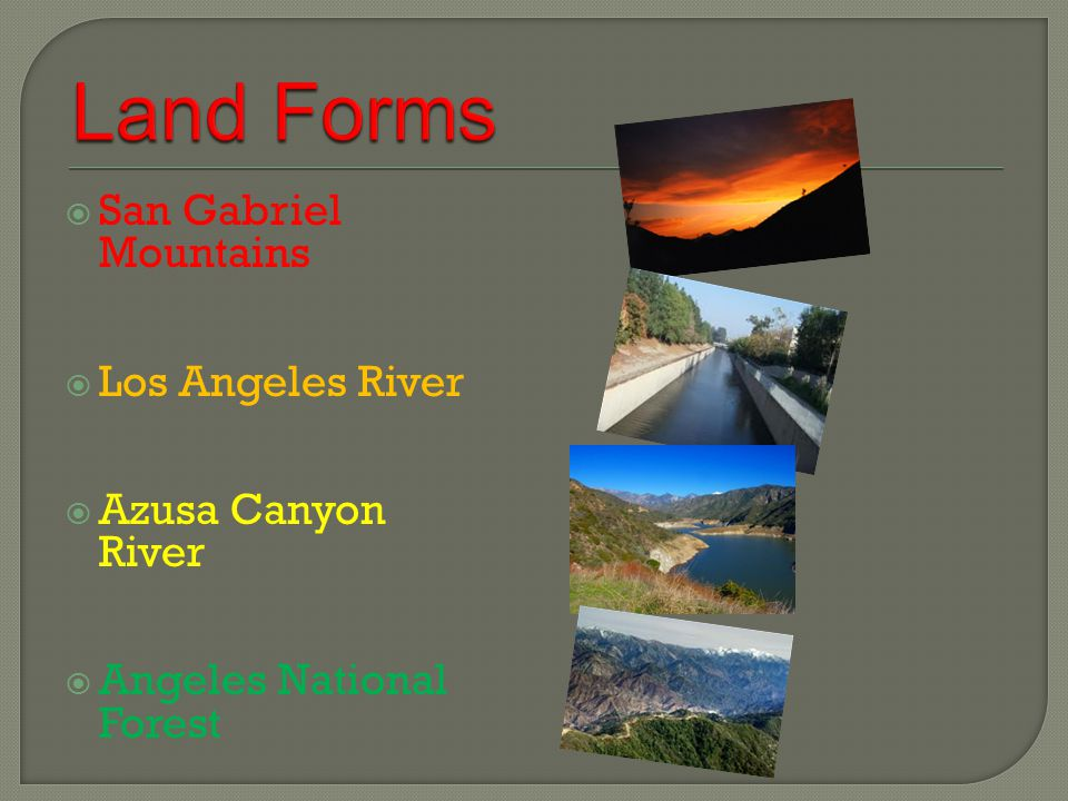  San Gabriel Mountains  Los Angeles River  Azusa Canyon River  Angeles National Forest