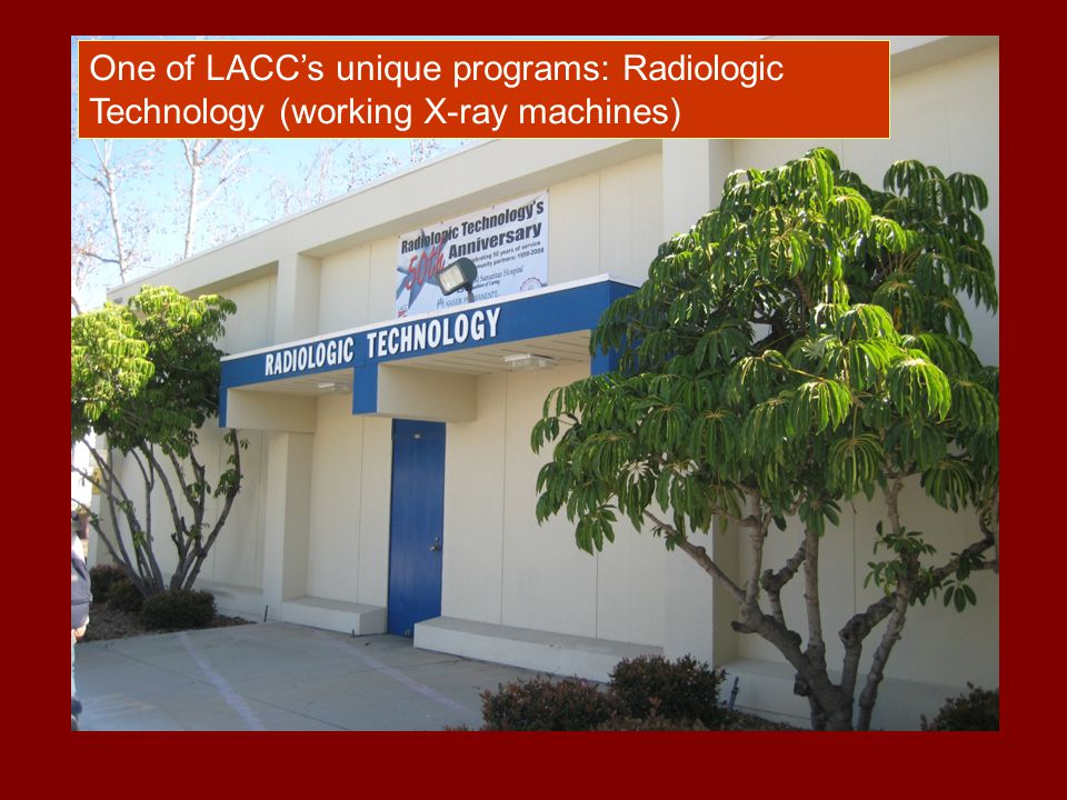 One of LACC's unique programs: Radiologic Technology (working X-ray machines)