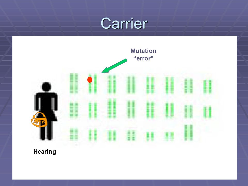 Carrier Mutation error Hearing