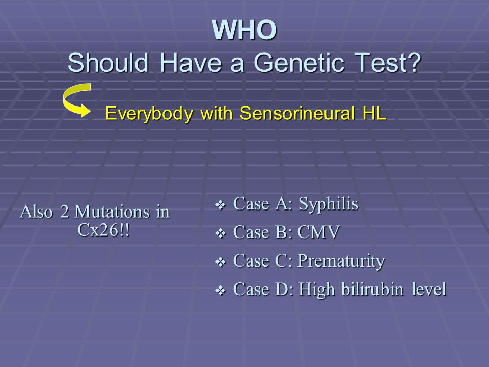 WHO Should Have a Genetic Test.