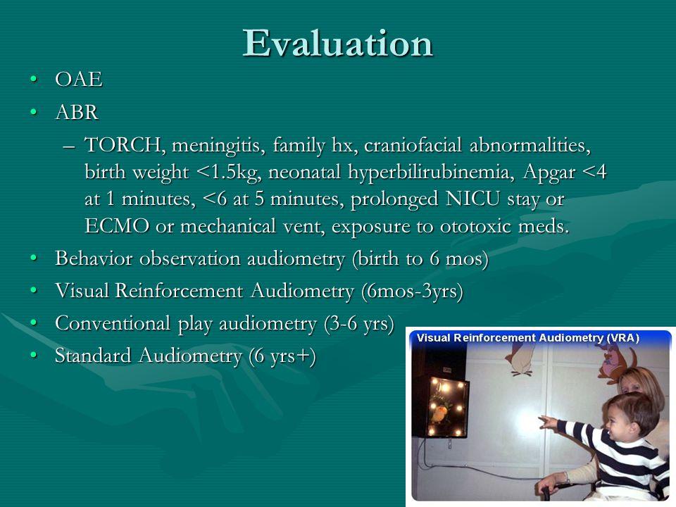 Ancillary Tests Imaging: CT temporal bone: inner ear disorders, cholesteatoma, & osteodysplasias.