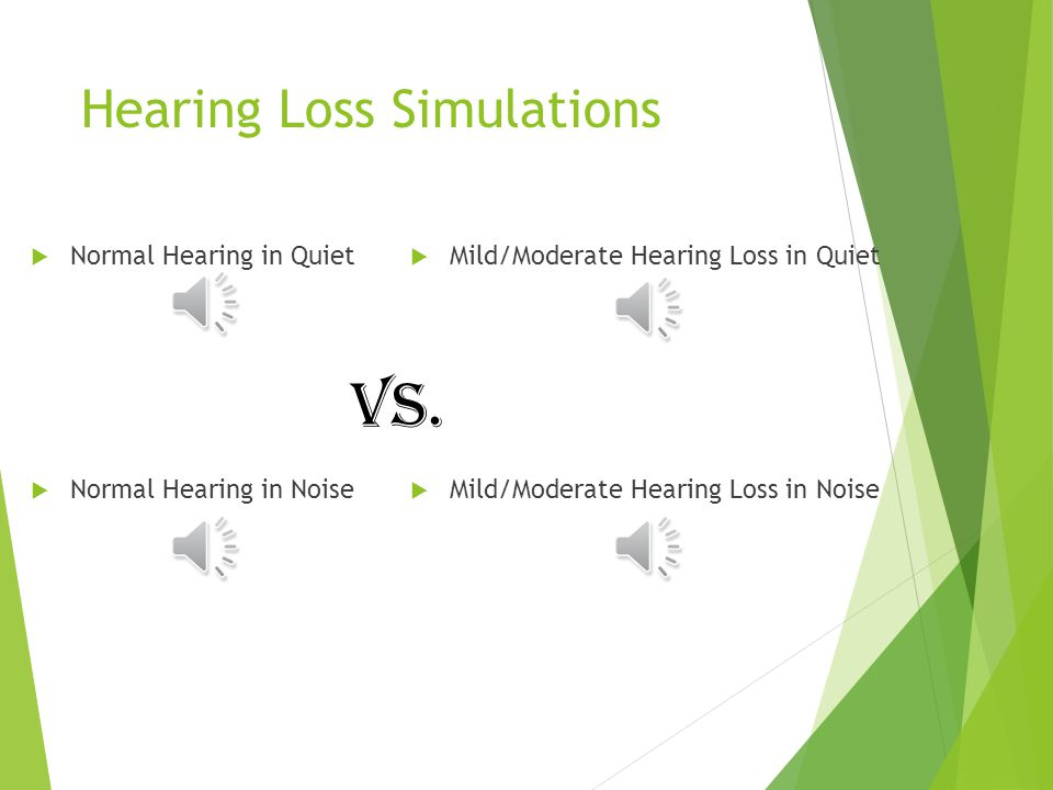 HEARING LOSS SIMULATIONS Have you ever wondered, What does his/her hearing loss really sound like or I wish (insert person) knew what it was like to have hearing loss …..