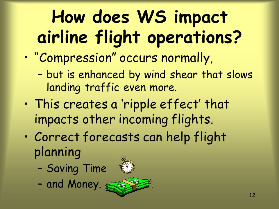 11 How does WS impact airline flight operations.