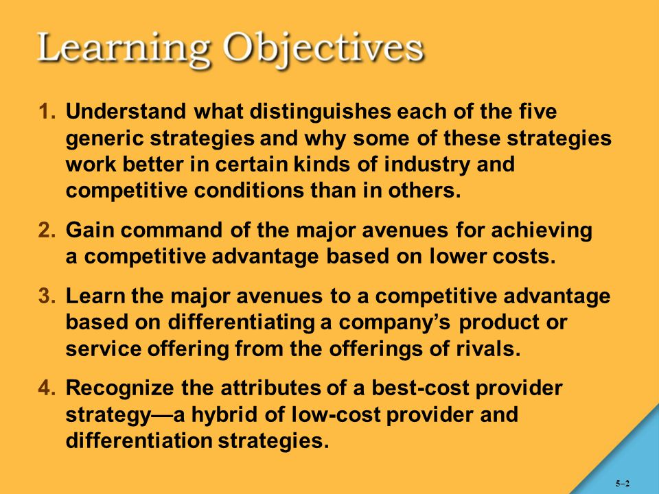WHY DO STRATEGIES DIFFER.