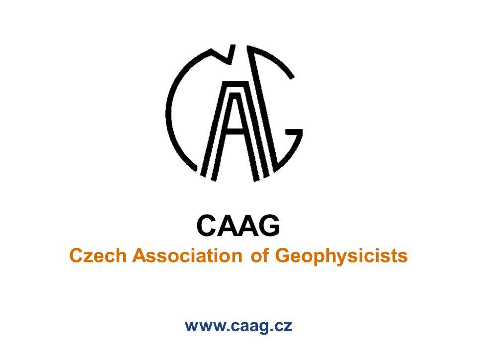 CAAG Czech Association of Geophysicists www.caag.cz