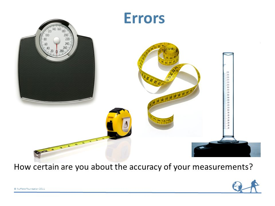 © Nuffield Foundation 2011 Errors How certain are you about the accuracy of your measurements