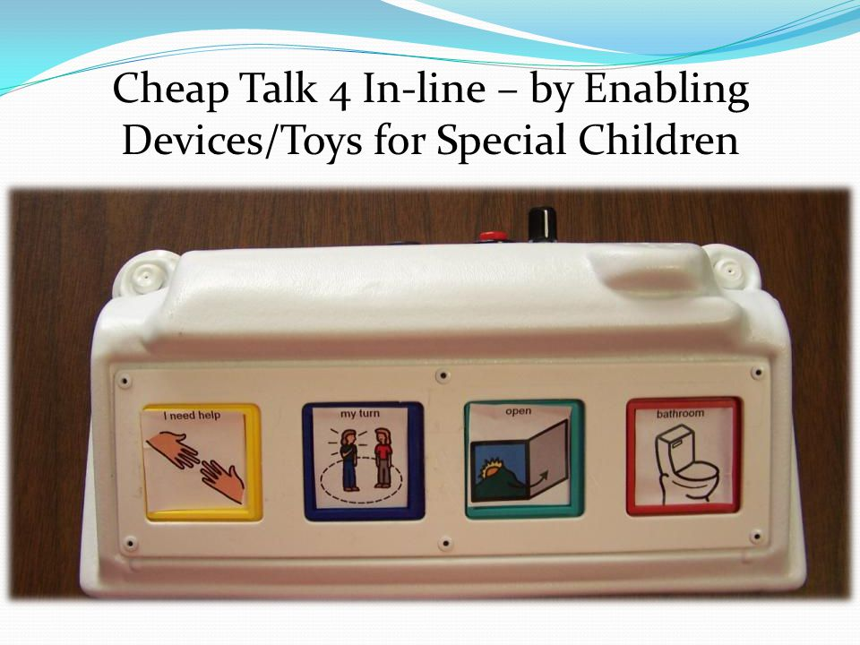 Cheap Talk 4 In-line – by Enabling Devices/Toys for Special Children