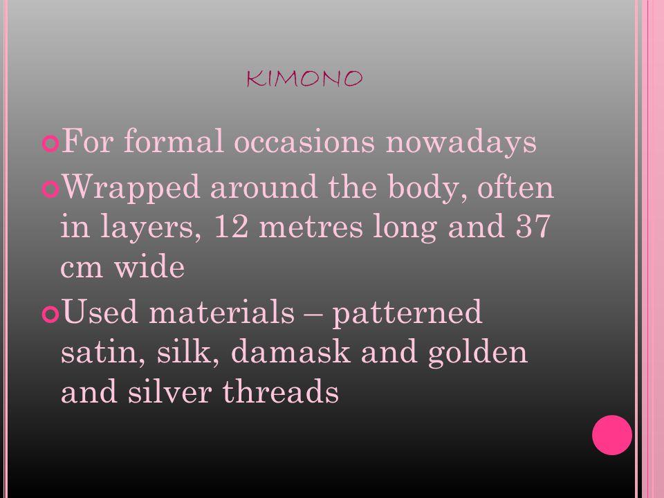 YUKATA Summer kimono, casual, usually made of cotton or synthetic fibre.