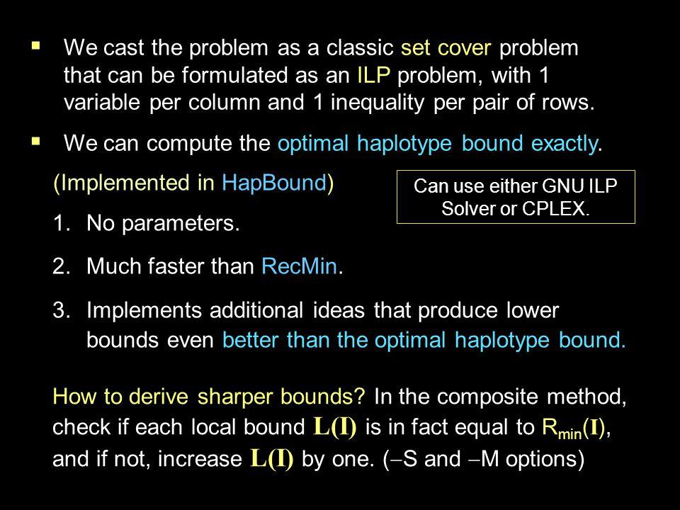 RecMin vs.