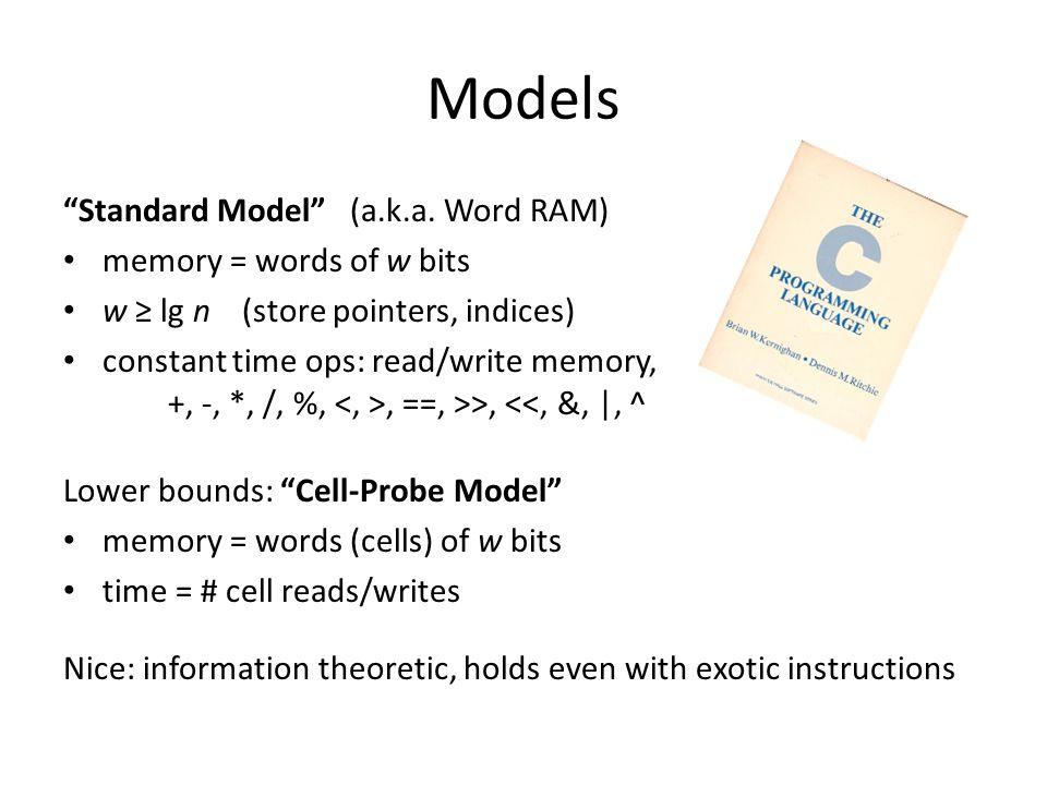 Models Standard Model (a.k.a.