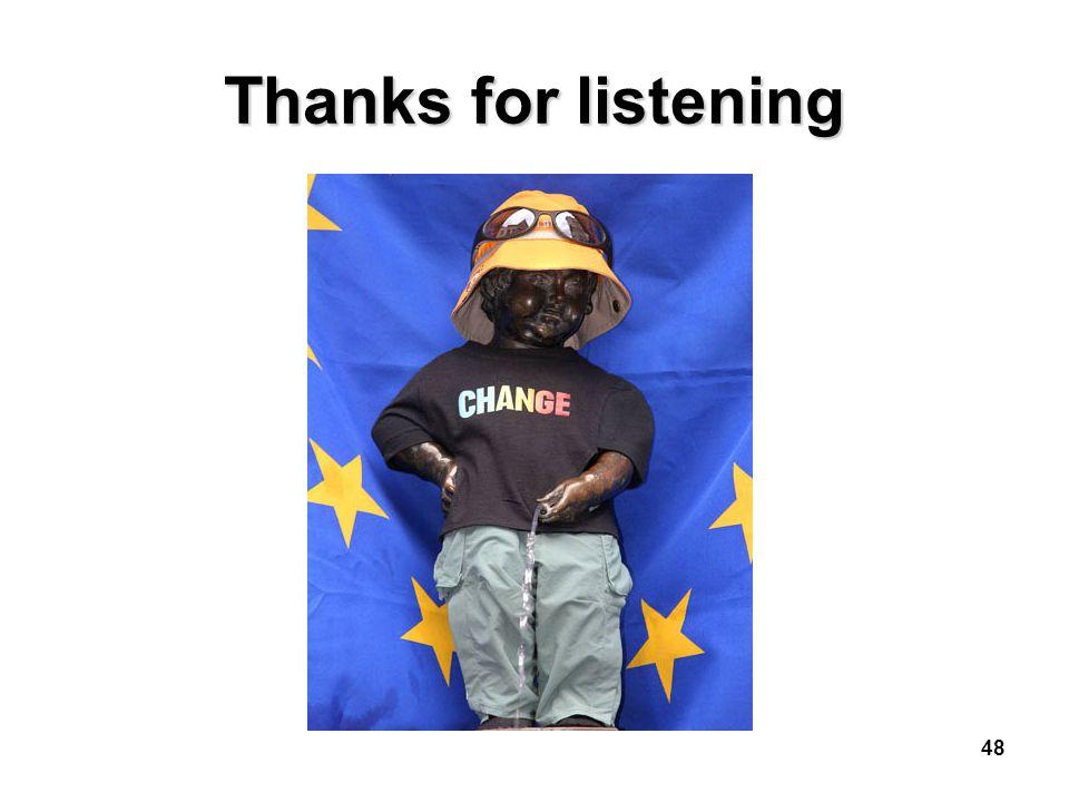 48 Thanks for listening