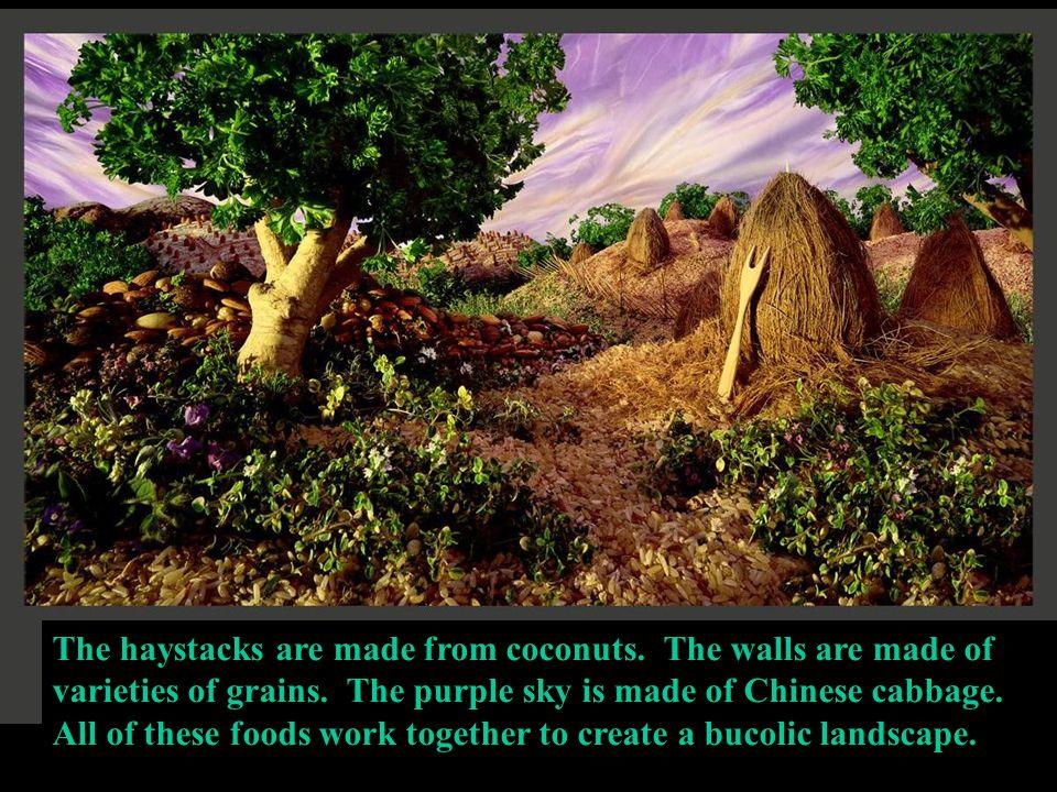 Alberi di foglie di cavolverza, rocce di patate dolci, gola di pane e cielo di radicchio porpora.