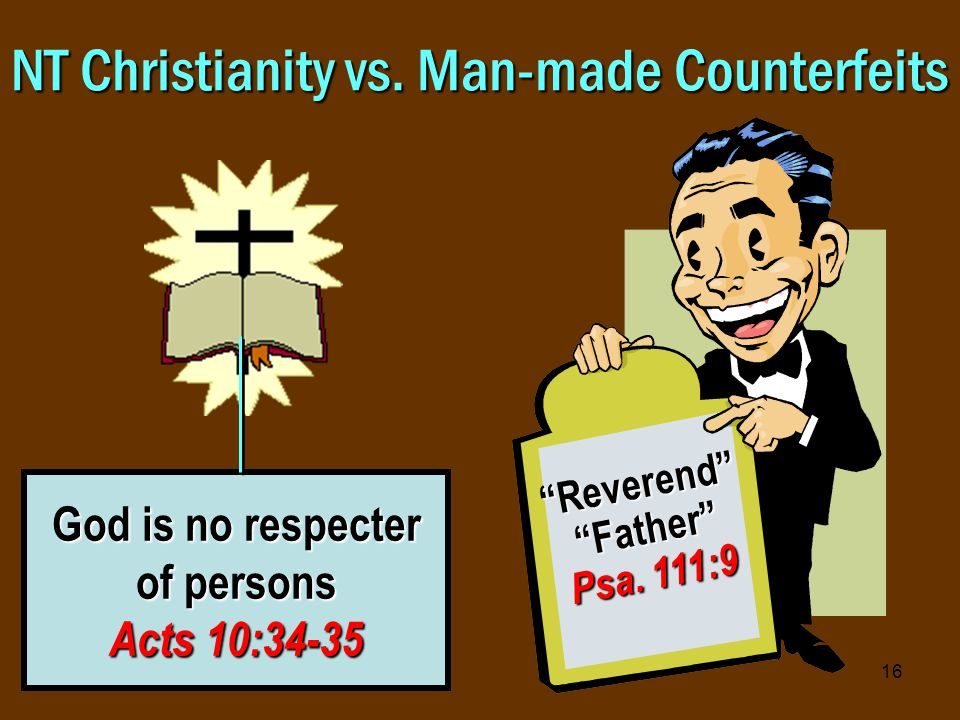 16 NT Christianity vs.