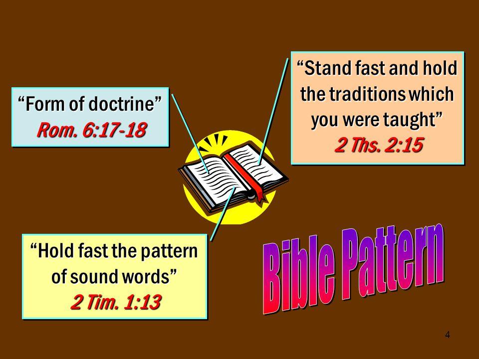 25 Conform hearts & lives to NT pattern 1 Jno.1:7 Matt.