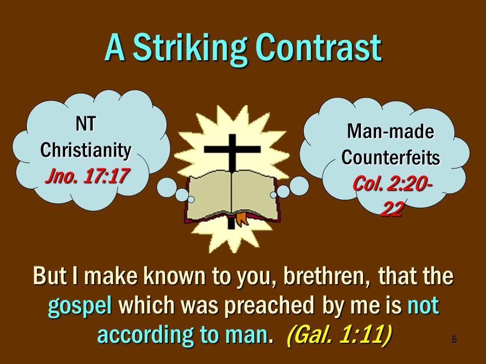 6 NT Christianity vs.Man-made Counterfeits Christ: Founder Matt.