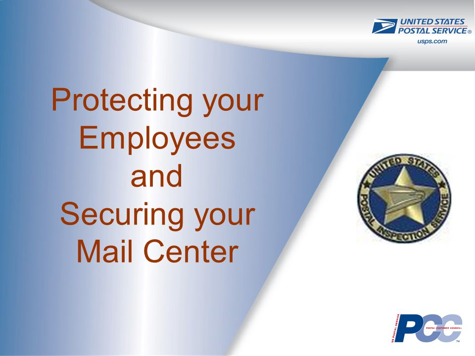 Protecting your Employees and Securing your Mail Center