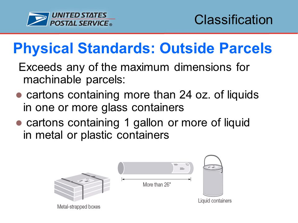 Classification Machinable Nonmachinable Automation Categories of Mail