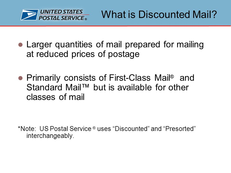 Is Discounted Mail Right For You.