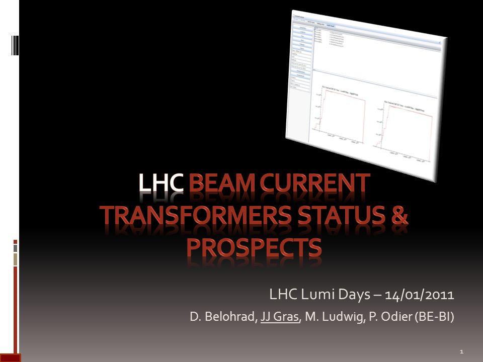 LHC Lumi Days – 14/01/2011 D. Belohrad, JJ Gras, M. Ludwig, P. Odier (BE-BI) 1