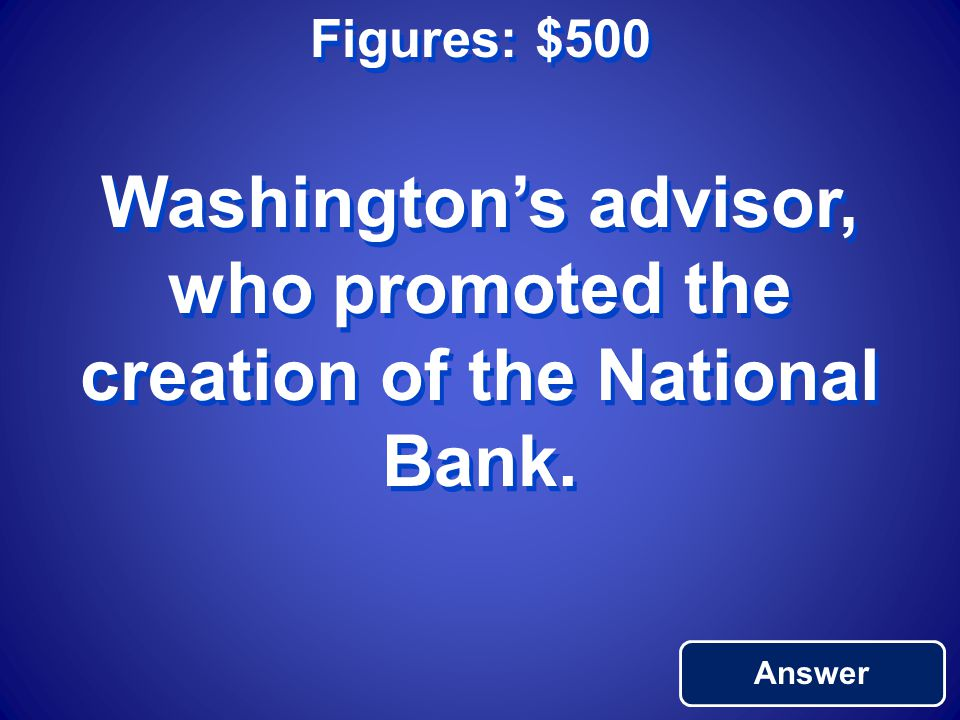 Figures: $400 Return to Main George Washington