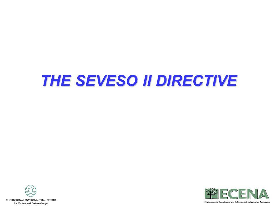 1 THE SEVESO II DIRECTIVE