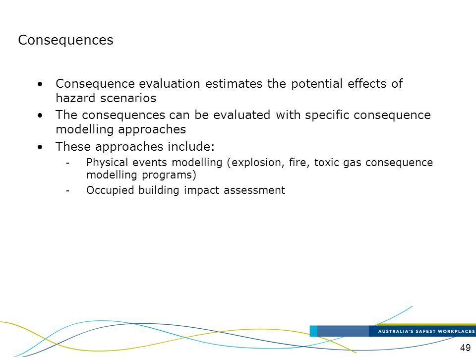 50 Consequences - Qualitative Evaluation A qualitative evaluation is based upon a descriptive representation of the likely outcome for each event This requires selecting a specific category rating system that is consistent with corporate culture