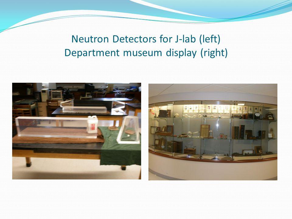 Neutron Detectors for J-lab (left) Department museum display (right)