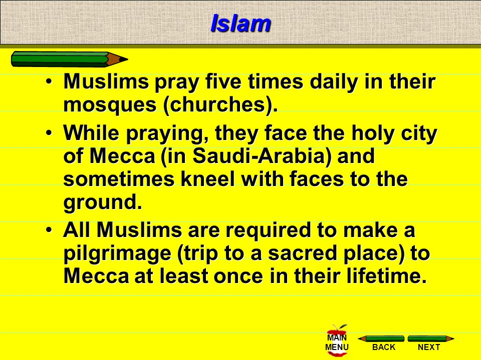 NEXTBACK MAIN MENU Islamic Philosophy Muslims learn that life on earth is a period of testing and preparation for the life to come. Angels record good