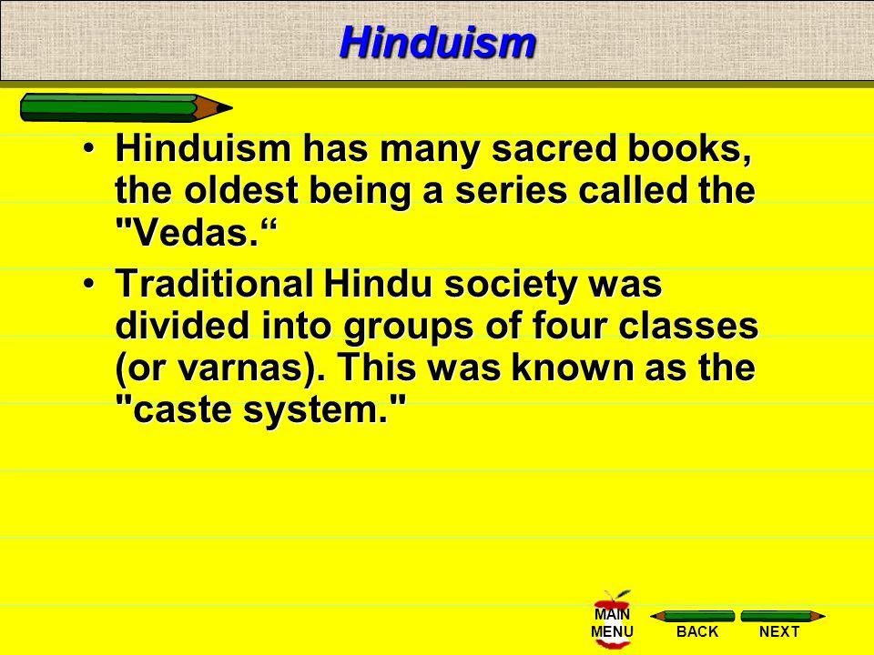 NEXTBACK MAIN MENU Hindu Philosophy At death, the Hindu's deeds (karma) determine what the next life will be. Followers work to break this cycle-- bir