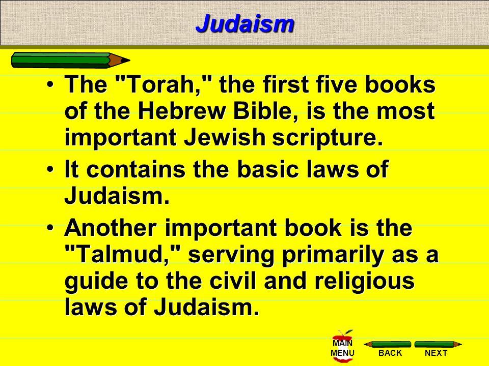 NEXTBACK MAIN MENUJudaism Jews think that God will send a Messiah (a deliverer) to unite them and lead them in His way. Christians believe that Jesus