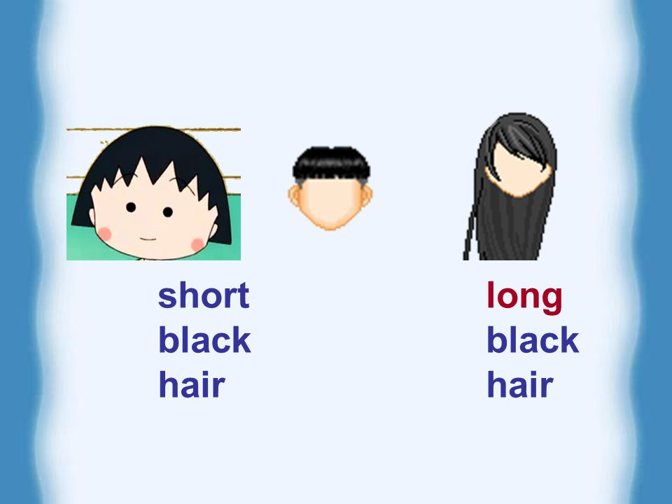 What does he/she look like.has short hair. has long hair.