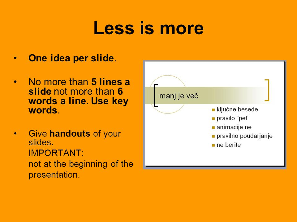 Add schemes & diagrams rather than tables; but let they be simplified.