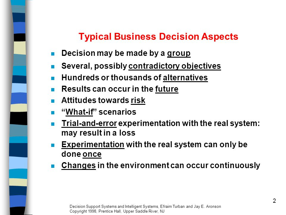 23 Scope of Decision n Operational Planning and Control: –Focus on efficient and effective execution of specific tasks.