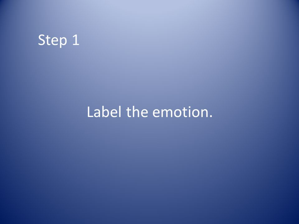 Step 1 Label the emotion.