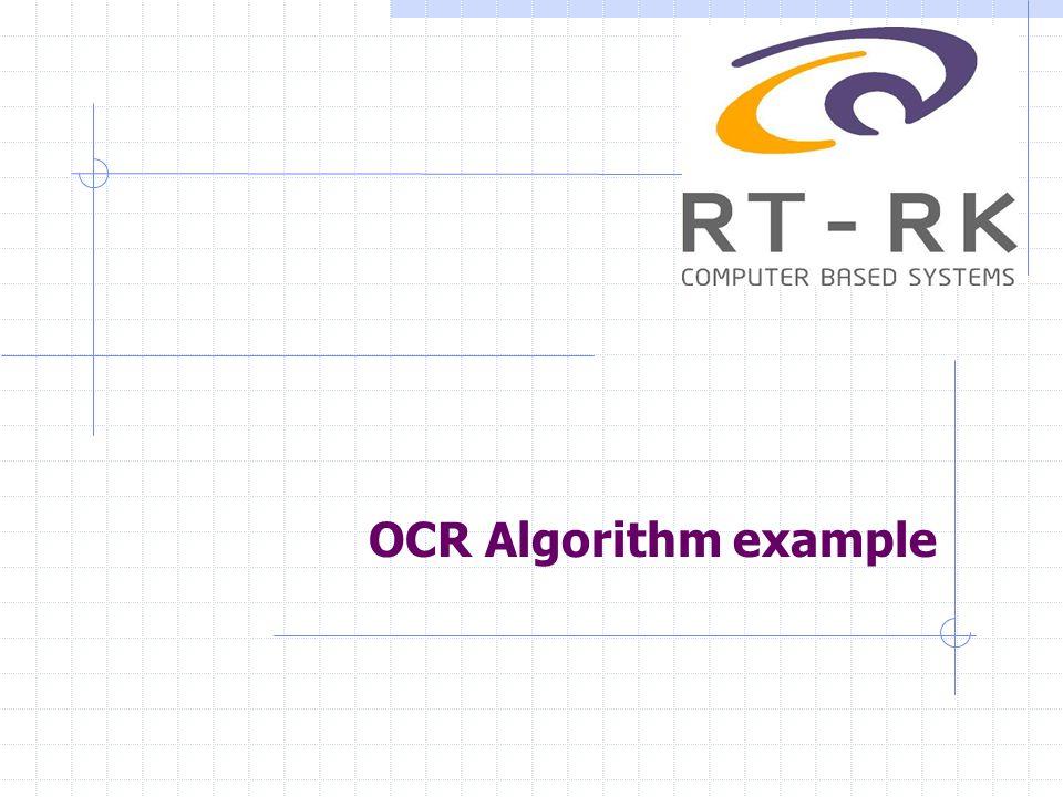 OCR Algorithm example