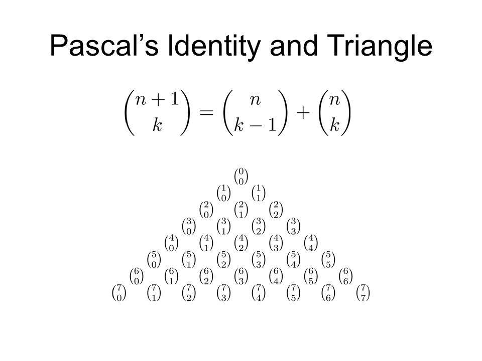 Pascal's Identity and Triangle
