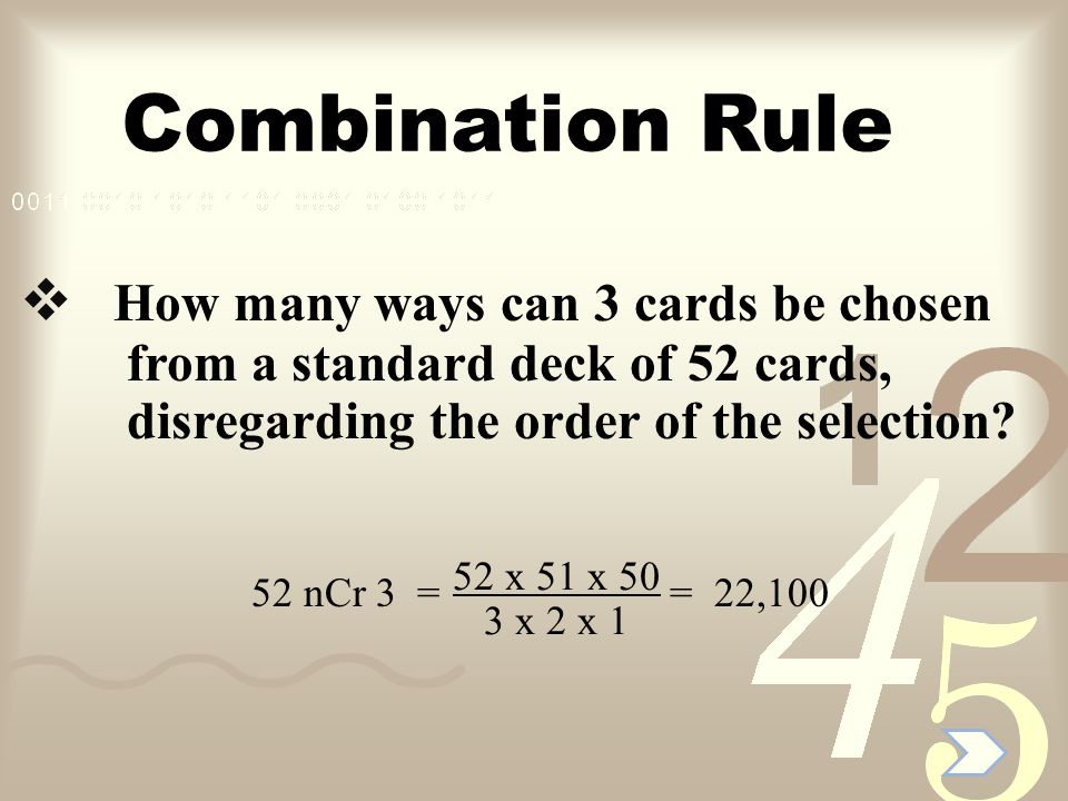 Combination Rule If 20 people all shake hands with each other, how many handshakes are there.