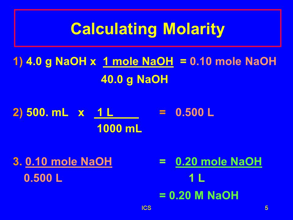 ICS15 Test question 5 How many milliliters of stomach acid, which is 0.10 M HCl, contain 0.15 mole HCl.