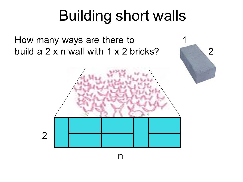 Building short walls 2 1How many ways are there to build a 2 x n wall with 1 x 2 bricks 2 n