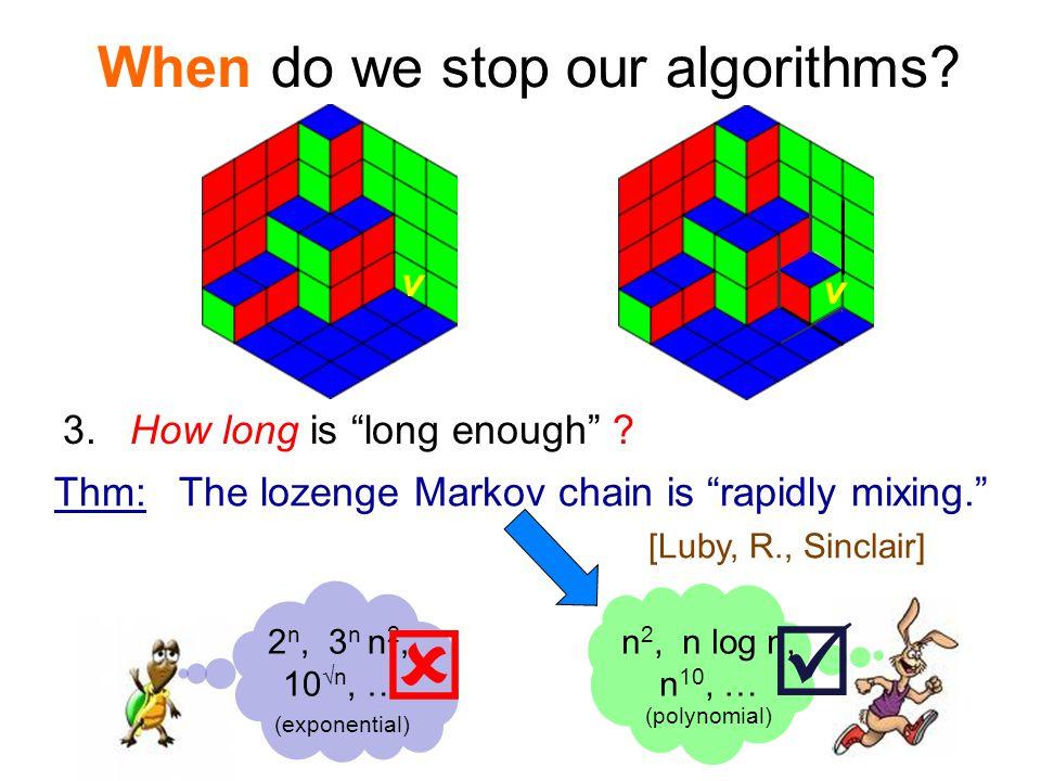 When do we stop our algorithms.
