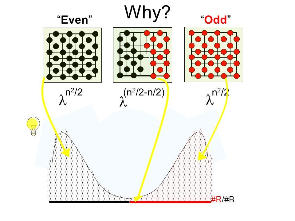 Why n 2 /2   (n 2 /2-n/2)  Even Odd #R/#B