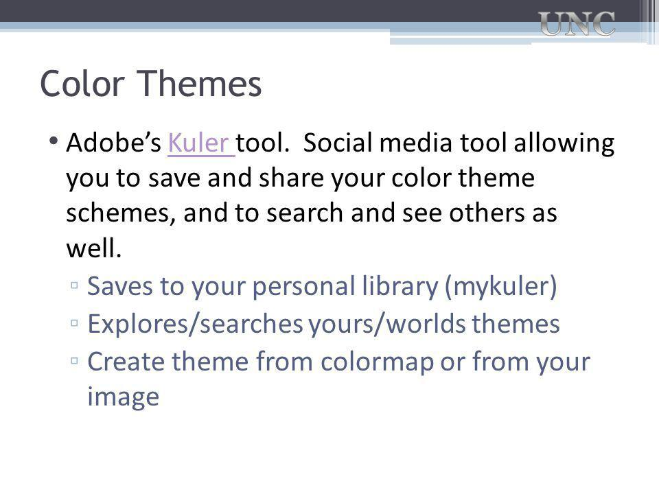 Color Themes Adobe's Kuler tool.