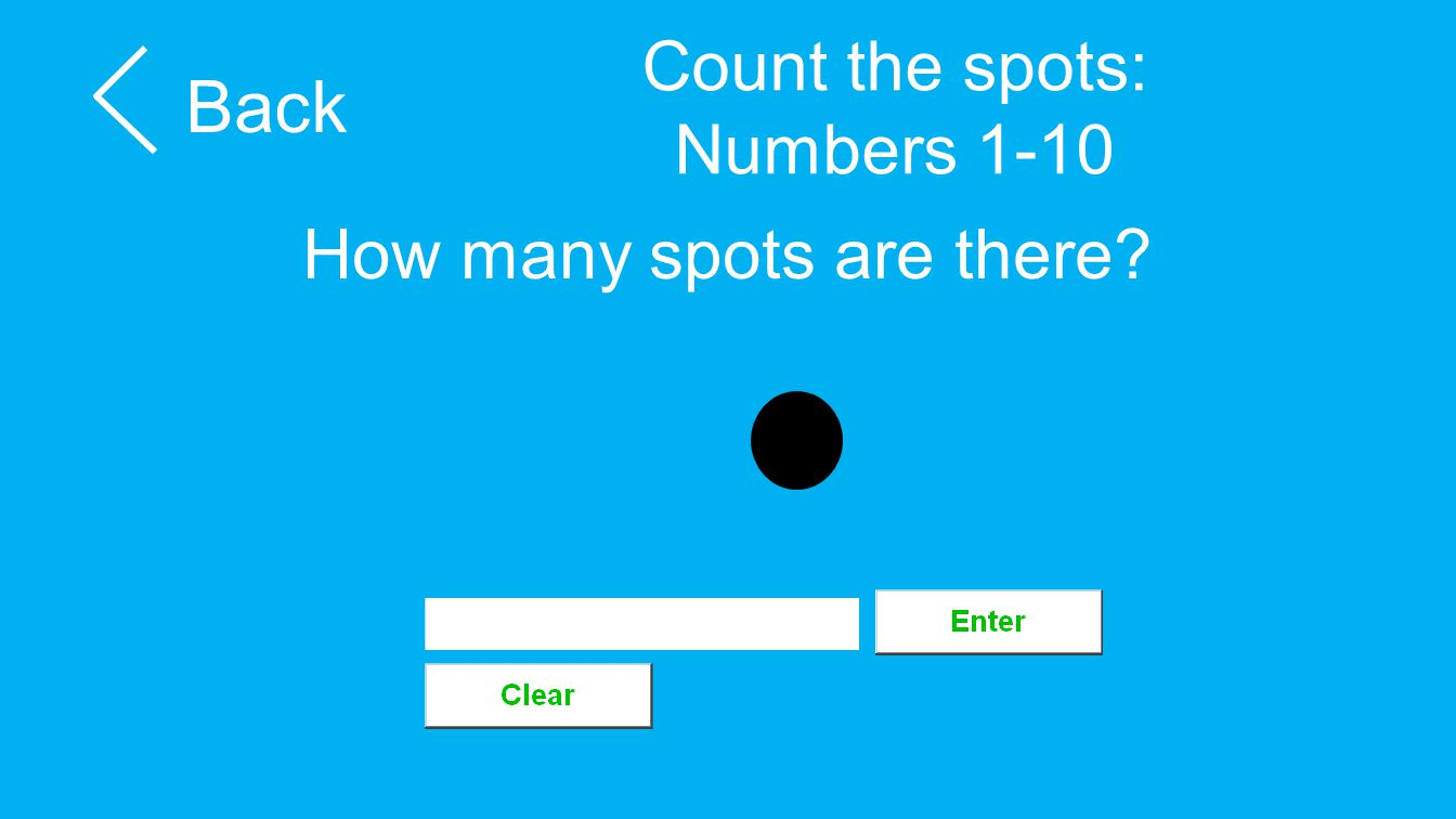 Count the spots: Numbers 1-10 Back How many spots are there