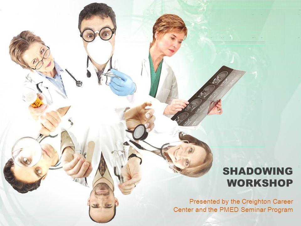 SHADOWING WORKSHOP Presented by: Lisa Brockhoff and Linda Dunn Creighton Career Center