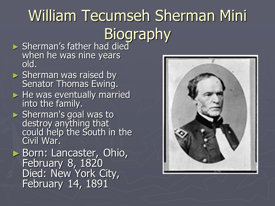 William Tecumseh Sherman and his March to the Sea By: Courtney Stevens, Molly Peterson, and Zachary Unger