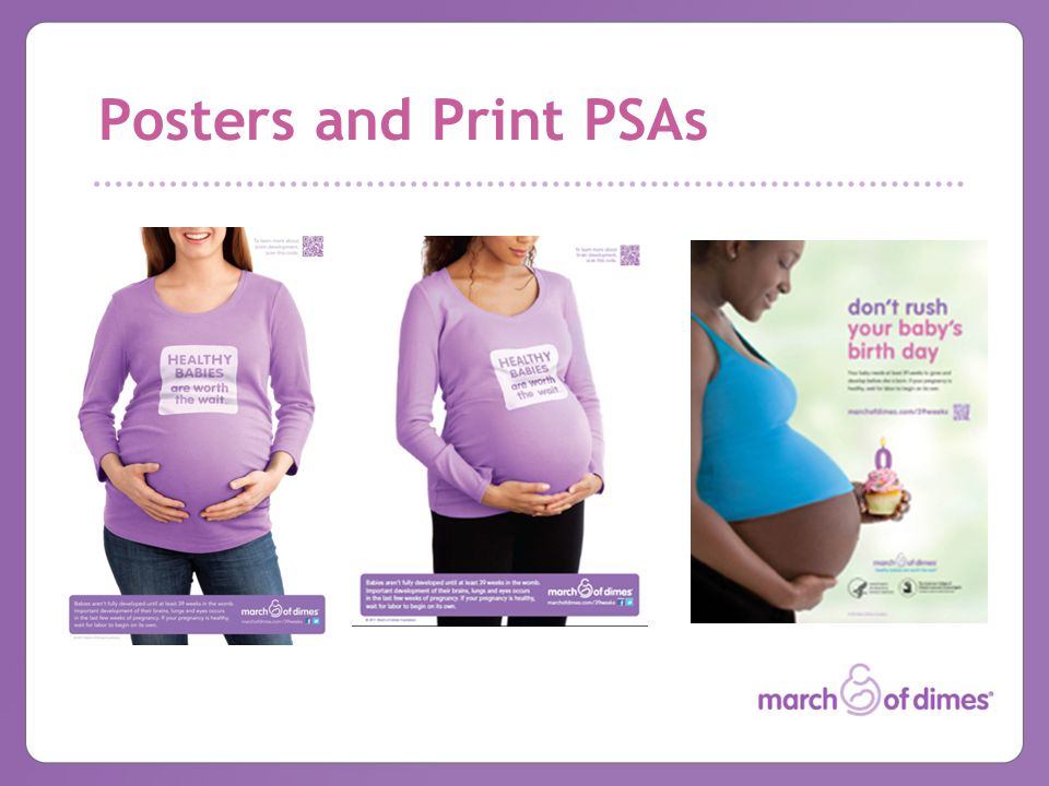 Posters and Print PSAs