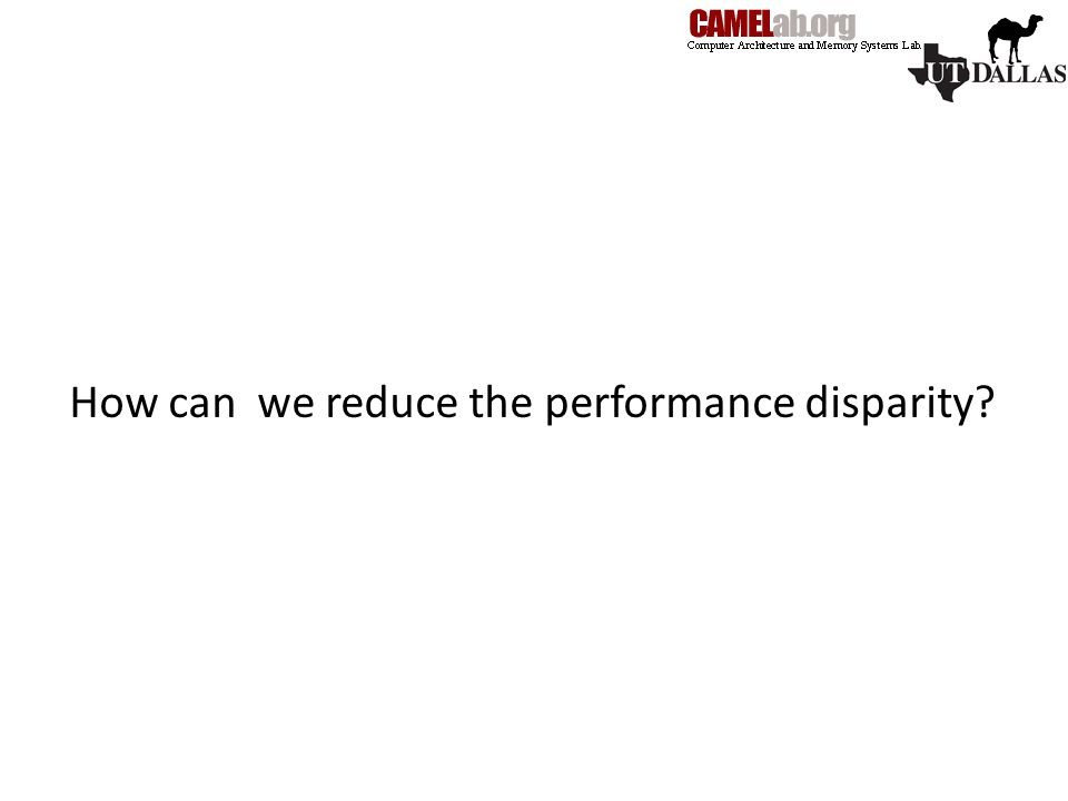 How can we reduce the performance disparity