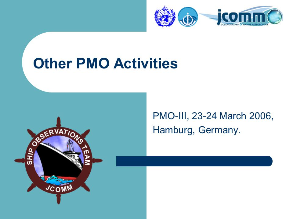 PMO-III, 23-24 March 2006, Hamburg, Germany. Other PMO Activities